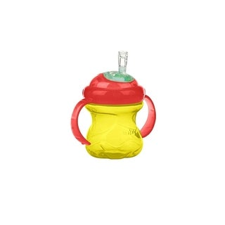 Nuby Grip N' Sip Yellow/Red 8-ounce No Spill Cup