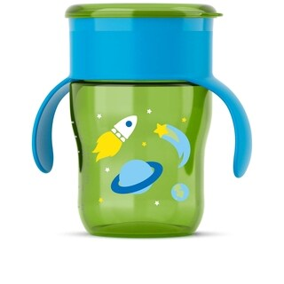 Philips Avent My Natural Green Plastic 9-ounce Rocketship Drinking Cup