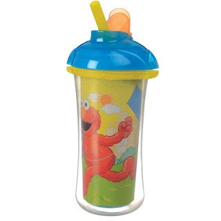 Munchkin Sesame Street Yellow 9-ounce Click Lock Insulated Straw Cup