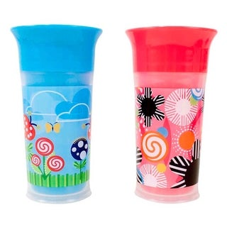 Sassy Flower/Garden 360-degree No-Spill Insulated Grow Up 9-ounce Cup (Set of 2)