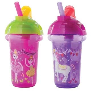 Munchkin Princess Click Lock Flip Straw Decorated 9-ounce Cup (Set of 2)