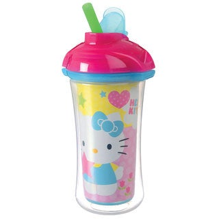 Munchkin Pink Hello Kitty Click Lock Insulated 9-ounce Straw Cup
