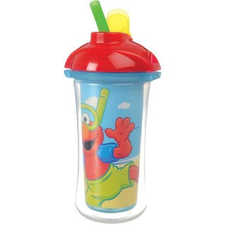 Munchkin Blue Sesame Street 9-ounce Click Lock Insulated Straw Cup