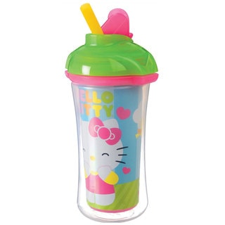 Munchkin Green Hello Kitty 9-ounce Click-lock Insulated Straw Cup