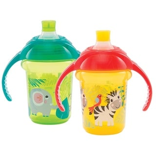 Munchkin Green/Yellow Click Lock Bite Proof Decorated 7-ounce Trainer Cup (2 Pack)