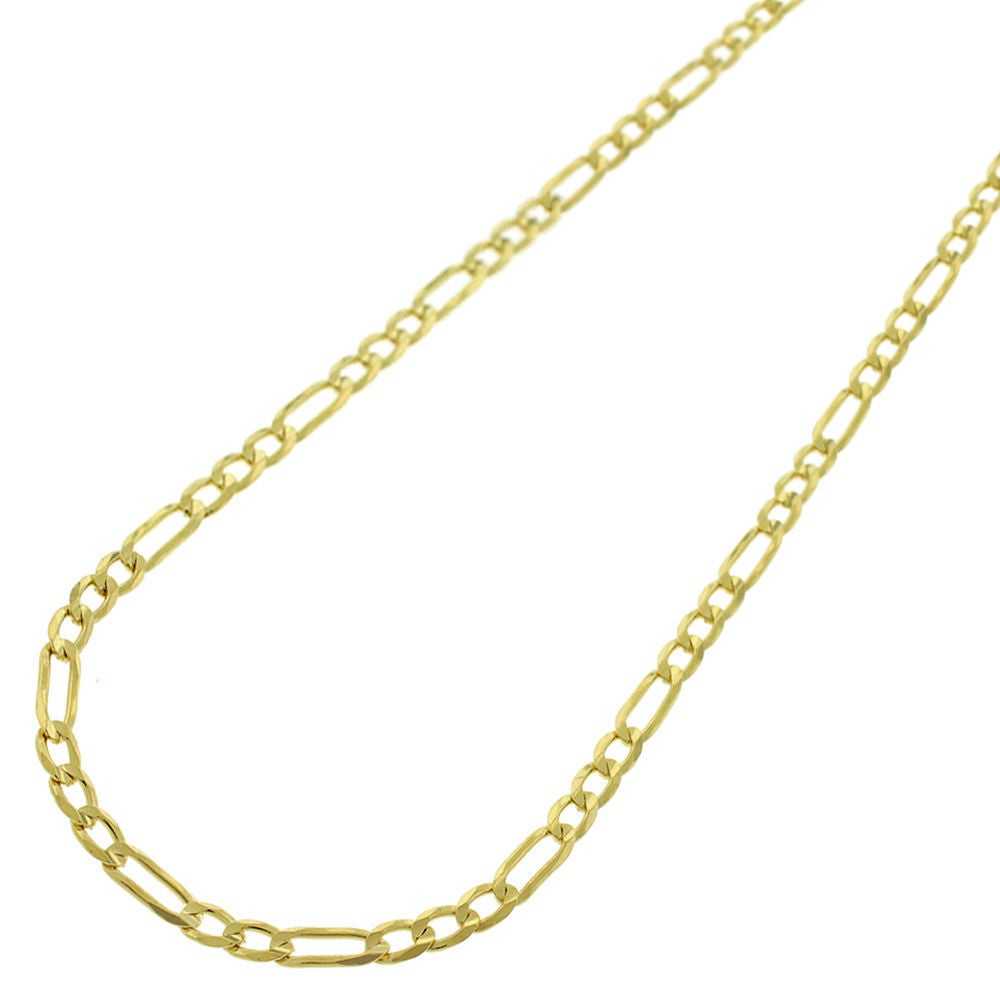 10k Yellow Gold 2.5mm Figaro Chain Necklace