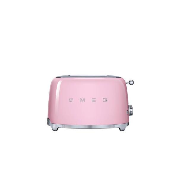 Smeg '50s-style Pink 2-slice Toaster