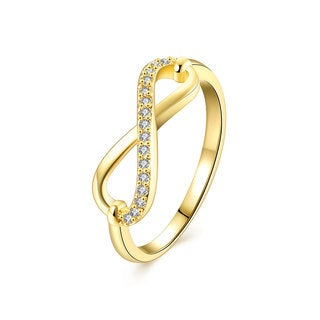 Gold Plated Cubic Zirconia Infinity Ring