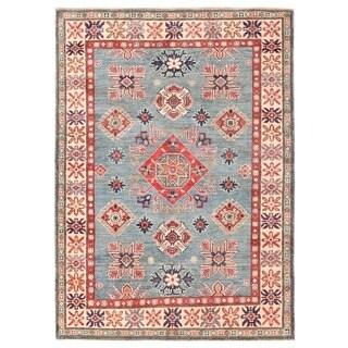 Herat Oriental Afghan Hand-knotted Vegetable Dye Kazak Wool Rug (4'10 x 6'9)