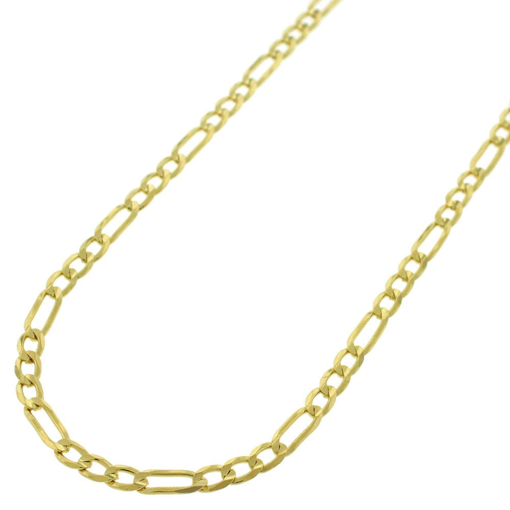 Shop 14k Yellow Gold 3mm Solid Figaro Link Necklace Chains Gold Chain For Men Women 100 Real 14k Gold Capital Jewelry Overstock 14723784