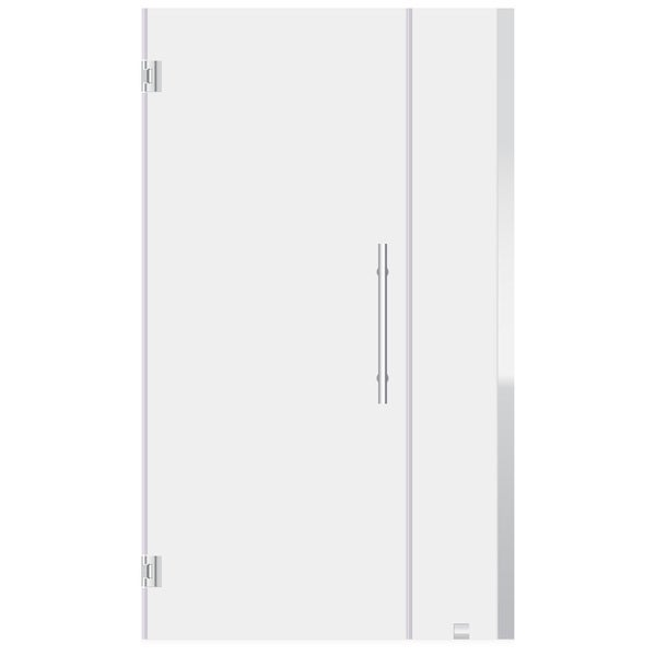 ULTRA-E Chrome and Glass Swing-out Shower Door (54-55 W x 72 H)