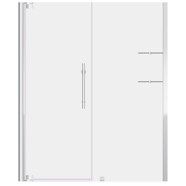 ULTRA-G Chrome and Glass Pivot Shower Doors (63-65 W x 72 H)
