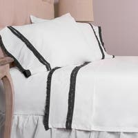 Dainty Steel Blue Ruffle Sheet Set