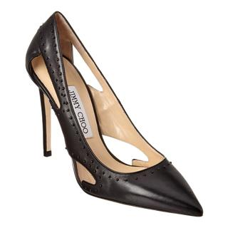 Jimmy Choo Vienna 100 Black Studded Pumps