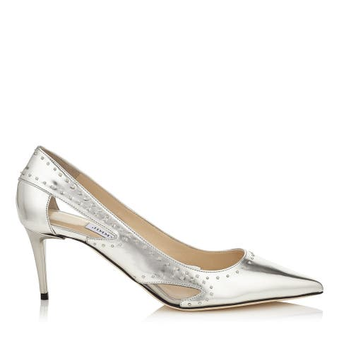 Jimmy Choo Vienna 65 Silver Studded Pumps