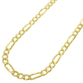 14k Yellow Gold 4-millimeter Unisex Figaro Link Chain Necklace