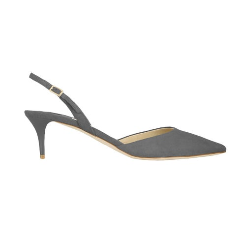 Jimmy Choo Tilly Gray Suede Slingback Pumps 7.5