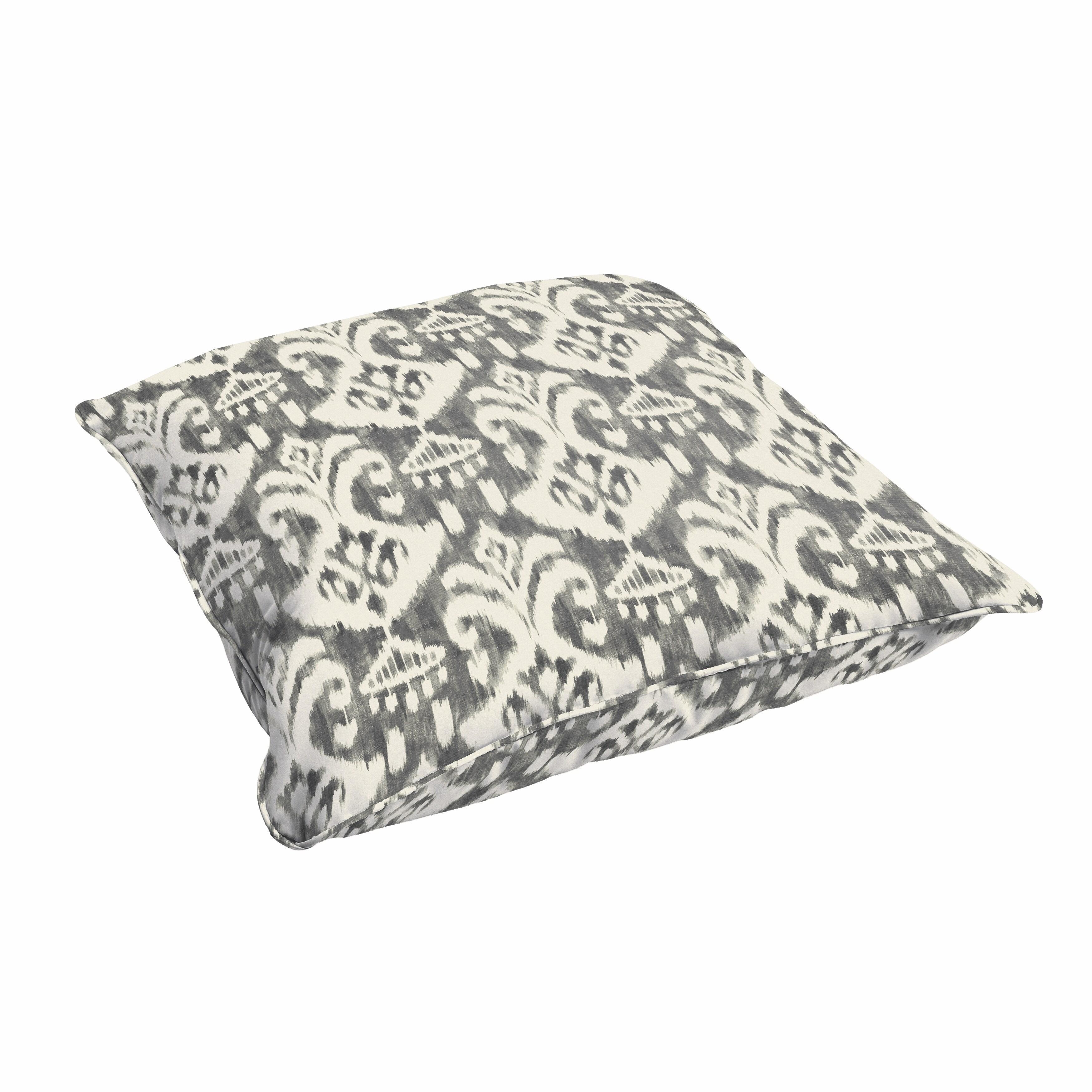 Details About Rainford Grey Cream Indoor Outdoor 26 Inch Floor Corded Pillow