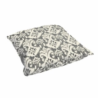 Rainford Grey/ Cream Indoor/ Outdoor 26 Inch Floor Corded Pillow
