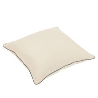 Stowe Sunbrella Beige/ Charcoal Indoor/ Outdoor 26 Inch Floor Corded Pillow
