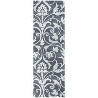 Hand-tufted Marianna Fields Ornamental Grey Wool Runner Rug (2'6 x 8')