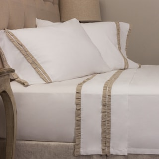 Dainty Natural Ruffled Pillowcase Set