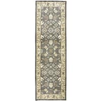 """Hand-knotted Maison multi Wool border Runner Area Rug (2'6"""" x 8')"""