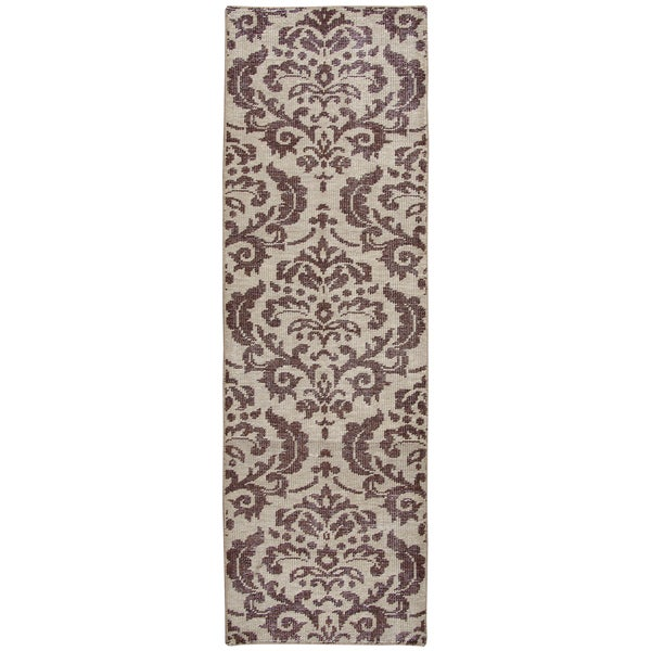 Shop Hand Knotted Maison Burgundy Wool Ornamental Runner