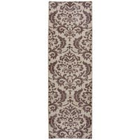 Hand-knotted Maison burgundy Wool Ornamental Runner Rug (2'6 x 8')