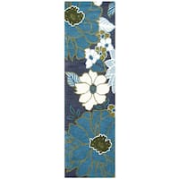 """Hand-tufted Luniccia Floral Wool Runner Rug - 2'6"""" x 8'"""