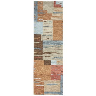 "Hand-Tufted Leone Multi Wool Block Runner Area Rug (2'6"" x 8')"