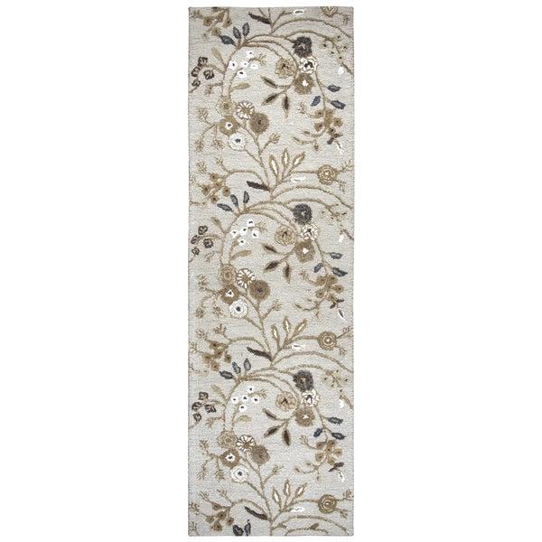 "Hand-Tufted Eden Harbor multi Wool & Viscose Floral Runner Area Rug (2'6"" x 8')"