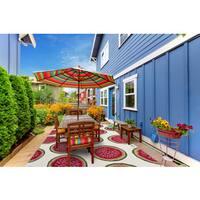 San Mateo Coral Pink Watermelon Indoor/Outdoor Multi-Purpose Rug (8'x11')