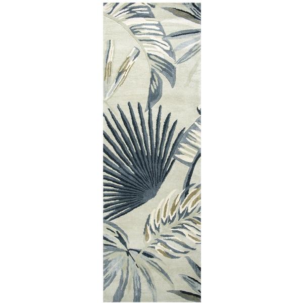 "Hand-Tufted Cabot Bay Khaki Wool Coastal Runner Area Rug  (2'6"" x 8')"