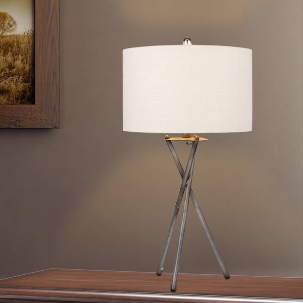 Modern 31-inch Rust Black Tripod Metal Table Lamp