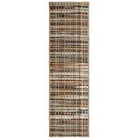 Bennington Brown Stripes Runner Rug (2'3 x 7'7)