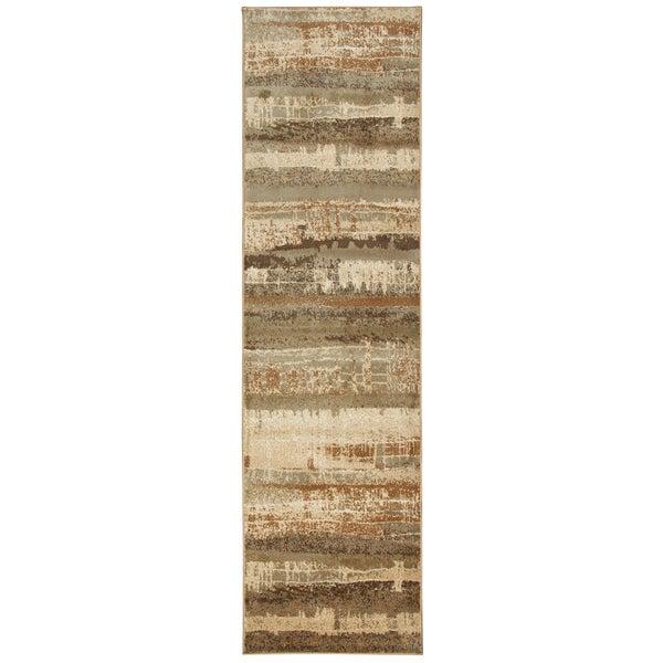 Bellevue Tan Graphic Runner Rug (2'3 x 7'7)
