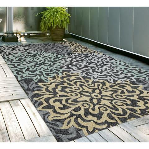 San Mateo Charcoal Multipurpose Indoor/Outdoor Rug (7'6 x 9'6) - 8' x 10'/Surplus
