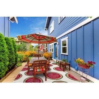 San Mateo Coral Pink Watermelon Multipurpose Indoor/Outdoor Rug (5' x 7'6)