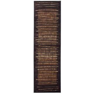 Bellevue black abstract Runner Area Rug (2'3 x 7'7)