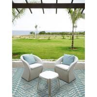 """San Mateo Aqua Multi-purpose Indoor/Outdoor Rug - 5' x 7'6"""""""