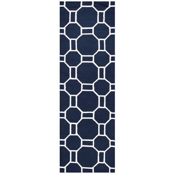 Trend Shake 40 Indigo Home Décor Ideas: Shop Hand-Tufted Azzura Hill Indigo Geometric Runner Area