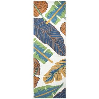 "Hand-Tufted Azzura Hill Ivory Botanical Runner Area Rug (2'6"" x 8')"