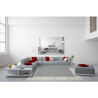 San Mateo Silver Multi-Purpose Indoor/Outdoor Rug (5' x 7'6)