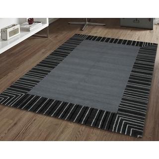 San Mateo Grey Multi-purpose Indoor/Outdoor Rug (5' x 7'6)