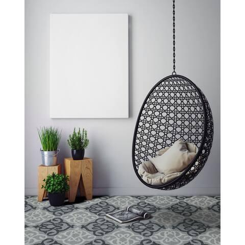 Multipurpose Indoor/Outdoor San Mateo Silver Diamond Rug (4'x6') - 4' x 6'/Surplus