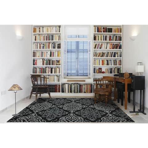 San Mateo Dark Grey Multipurpose Indoor/Outdoor Rug (4' x 6') - 4' x 6'/Surplus