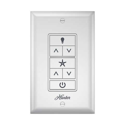 Hunter Universal 75-foot Range Ceiling Fan Wall Control With LED Light Bar - White