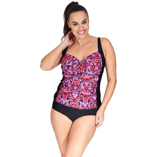 e43090f965b45 Shop Ruched Twist Front Plus Size Women s Tankini Top by Mazu Swim ...