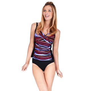 Ruched Twist Front Women's Tankini Top by Mazu Swim (Option: 12)